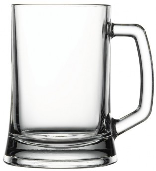 Pub bierbeker met handvat 500ml D85/122xH136mm