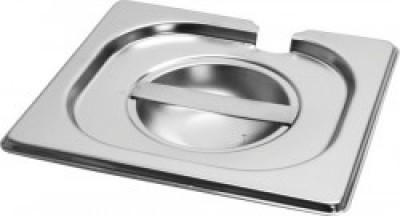 Gastronorm deksel inox 18/8 - 1/4 met lepeluitsparing