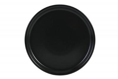 Asia pizzabord mat zwart D330-H25mm