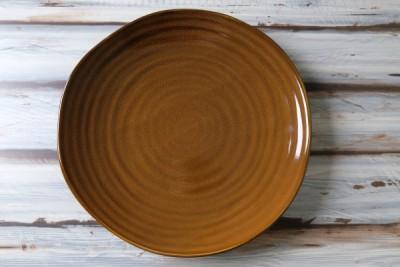 Tribeca bruin bord plat D210mm