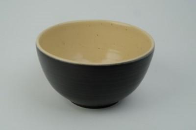 Edge Black/camel bowl Ø150xH80mm