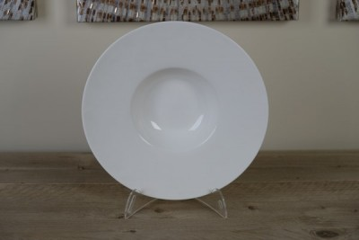 Royal White Diep bord 'Hoed' D280mm
