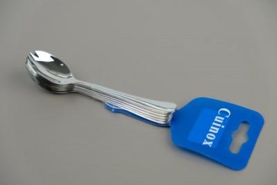 Cuinox Hapjeslepel-vork inox 6stuks