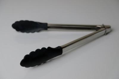 Inox tang met nylon uiteinde zwart