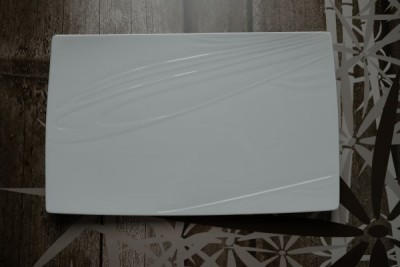 Papillon White Bonsai bord rechthoekig 230-110mm