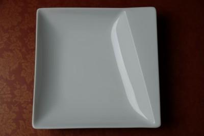 Papillon White Prisma diep bord vierkant