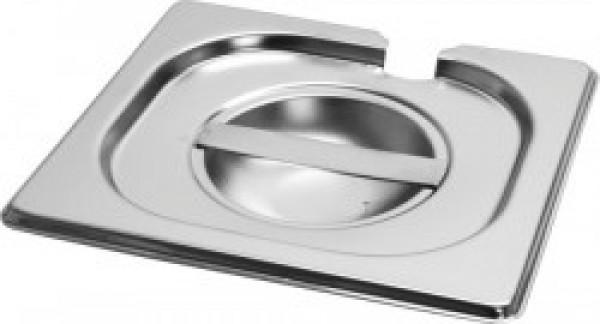 Gastronorm deksel inox 18/8 - 1/6 met lepeluitsparing