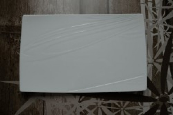 Papillon White Bonsai bord rechthoekig 370-230mm