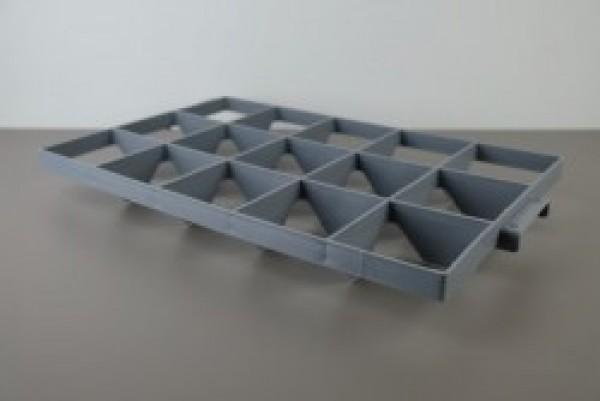 Cuinox verdeler 40 vakken met handvaten