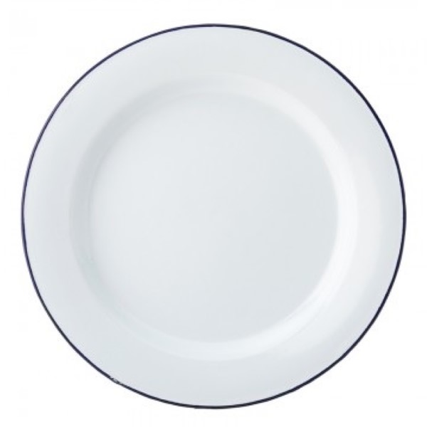 Eagle blue emaille plat bord