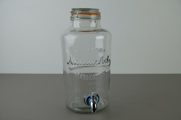 Punchbowl beugelbokaal met kraan