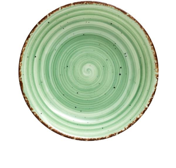 Gural Ent groen plat bord D210mm
