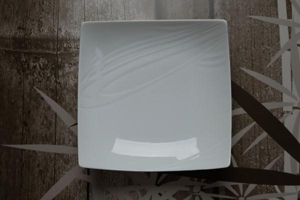 Papillon White Bonsai bord diep vierkant 220-220mm
