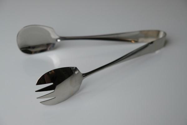 Saladetang inox 18/8 gepolijst