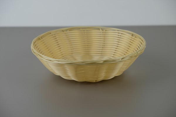 Broodmand in poly-rattan rond