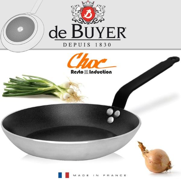 De Buyer Braadpan Choc Resto Induction Four D200-H30mm-5mm