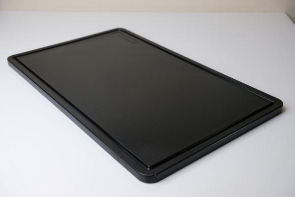 Stericare snijplank PP met groef GN 1/2 15mm zwart